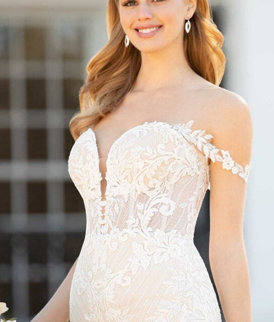 Tory-1236-Martina-Liana-Elegant-Lace-Fit-and-Flair-Wedding-Dress-Off-the-Shoulder-Sleeves