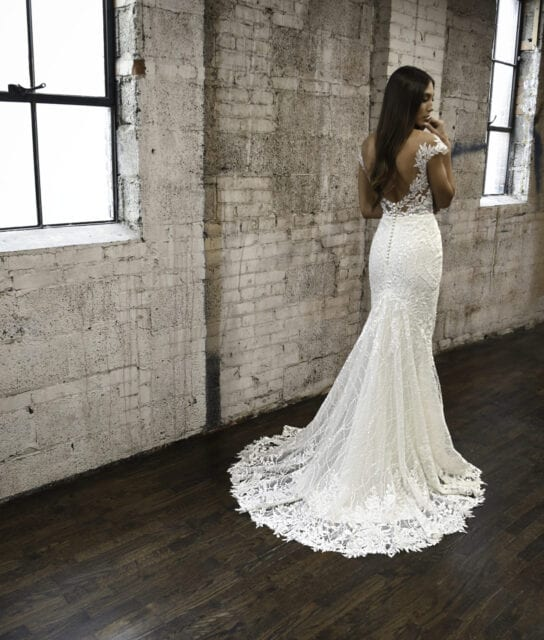 VALENTINA-1303-Martina-Liana-Sexy-Lace-Wedding-Gown-with-Overskirt_Brisbane