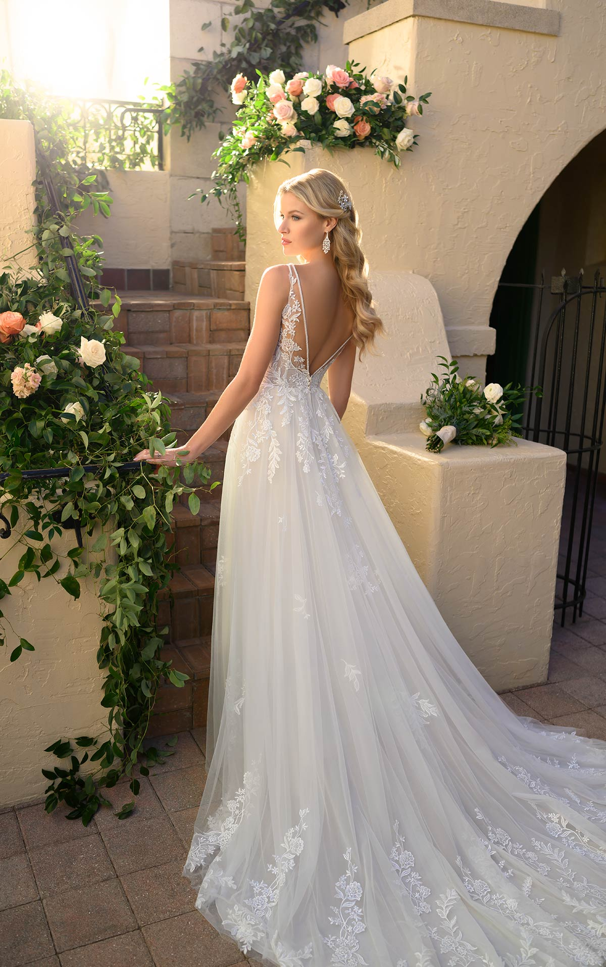 Jocelyn-7083-Stella-York-feminine-lace-aline-wedding-dress-tulle-skirt