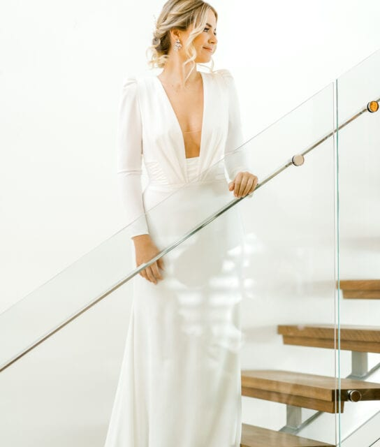 ADRIENNE-Pronovias-Modern-Crepe-Wedding-Gown-Sleeves-White-Lily-Couture-Brisbane (8)