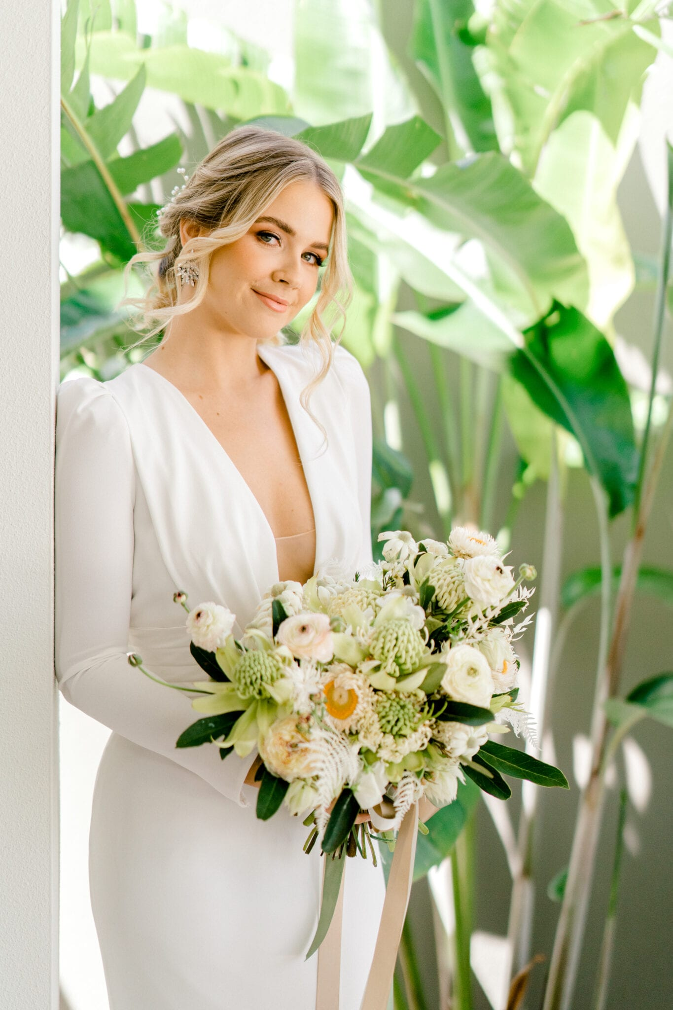 ADRIENNE-Pronovias-Modern-Crepe-Wedding-Gown-Sleeves-White-Lily-Couture-Brisbane (9)