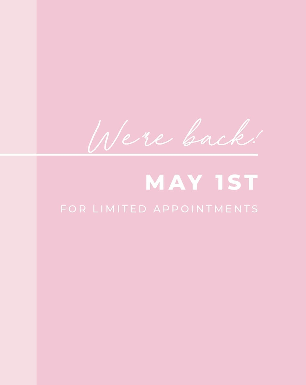 White Lily Couture Open May 1st