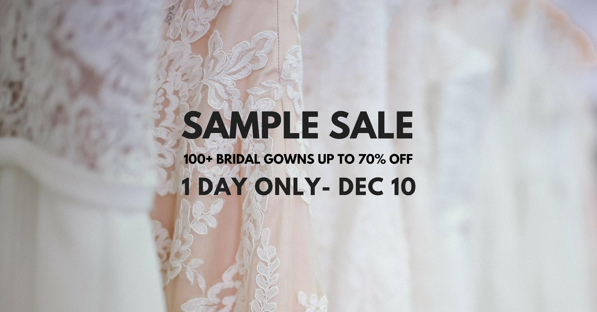 Sneak Peak Boutique Gowns Sample Sale - White Lily Couture