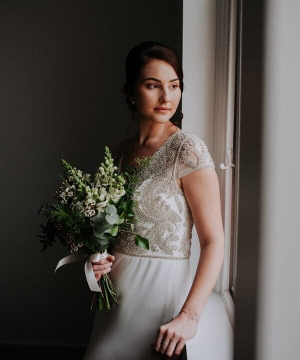 Photographer: Dani Drury / Bride's Dress: White Lily Couture / Flowers: Shannon Hawkes Artisan Florals / Model: Elizabeth Warner