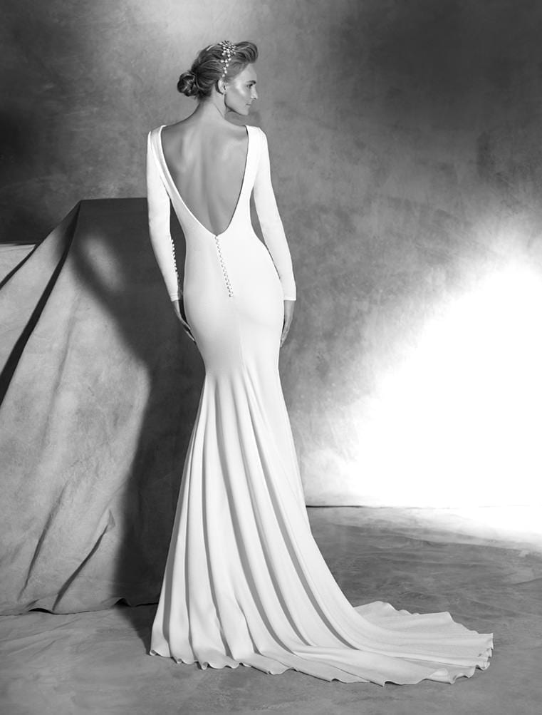 Wedding dress backless - White Lily Couture
