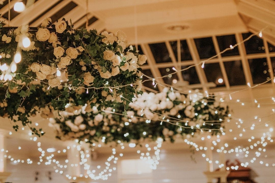 Lighting and florals at a Toowoomba wedding