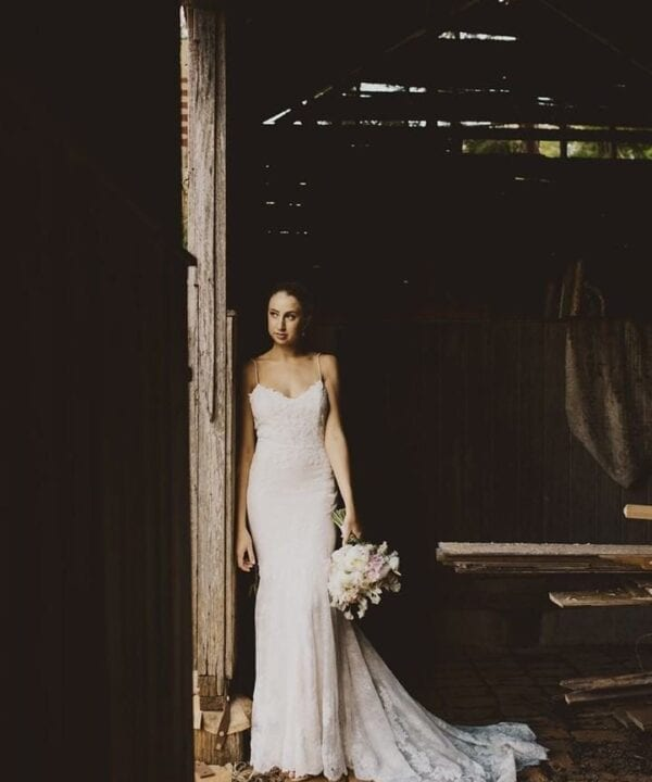 Photographer: Leah Cruikshank / Bride's Dress: White Lily Couture / Flowers: Green & Bloom / Hair: Katrina Devlin / Makeup Artist: Mirror Mirror Makeup Artistry / Venue: Gabbinbar Homestead /