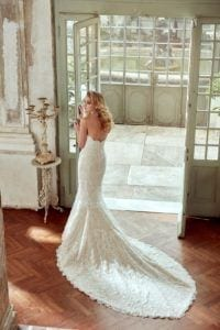 Lace detailed Wedding Couture - White Lily Couture