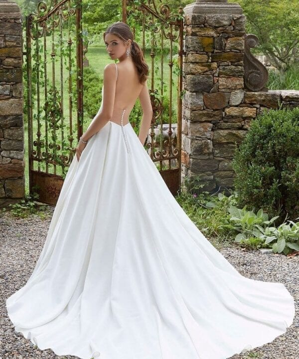 Pacifica Mori Lee Simple Bridal Ballgown