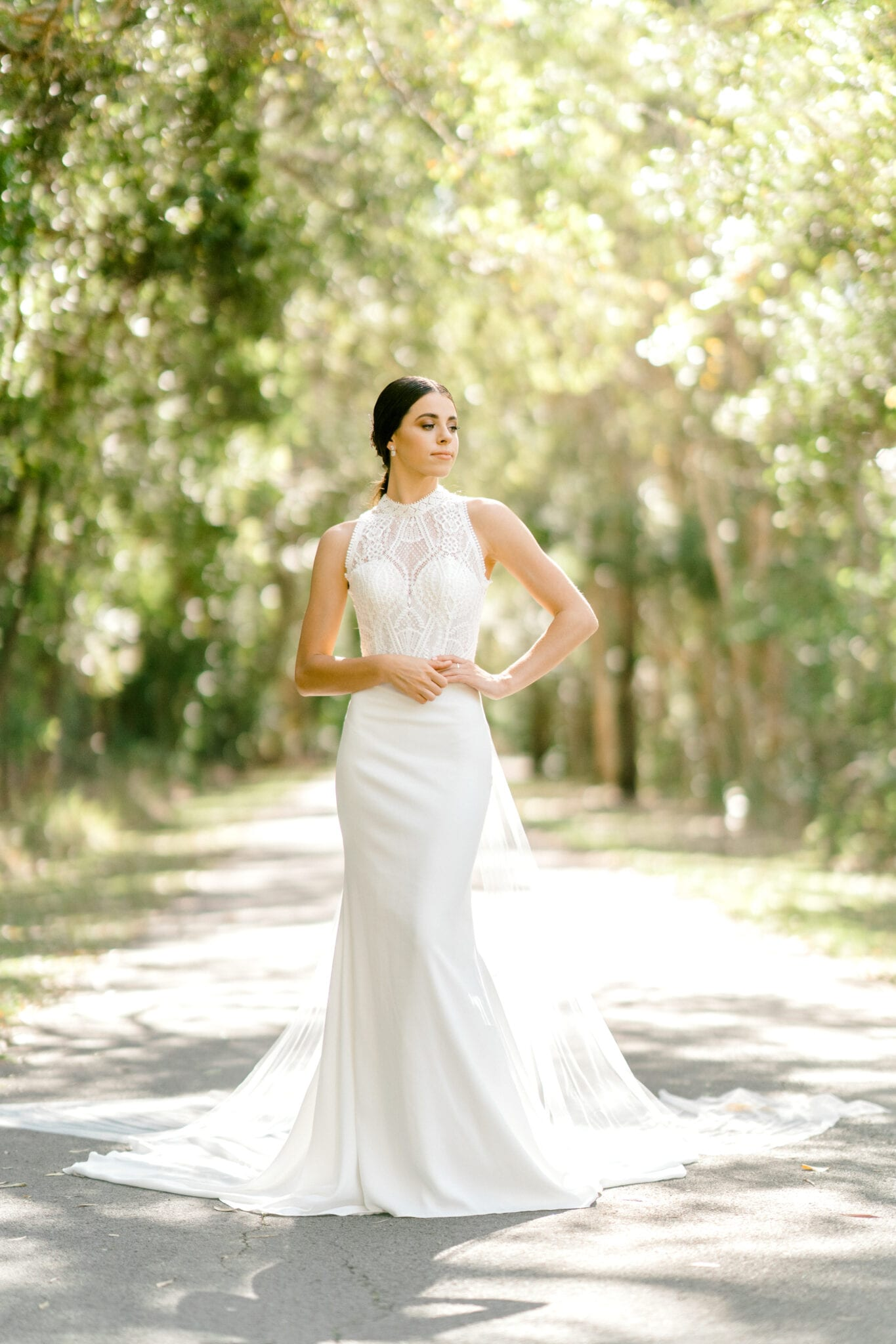 TAMESIS-Rosa-Clara-High-Neck-Low-Back-Wedding-Gown-White-Lily-Couture-Brisbane (1)