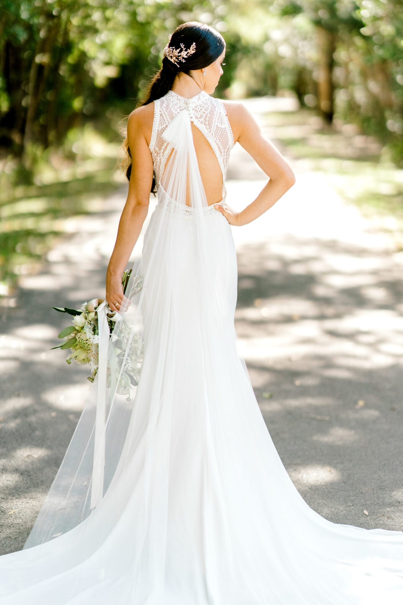 TAMESIS-Rosa-Clara-High-Neck-Low-Back-Wedding-Gown-White-Lily-Couture-Brisbane (3)