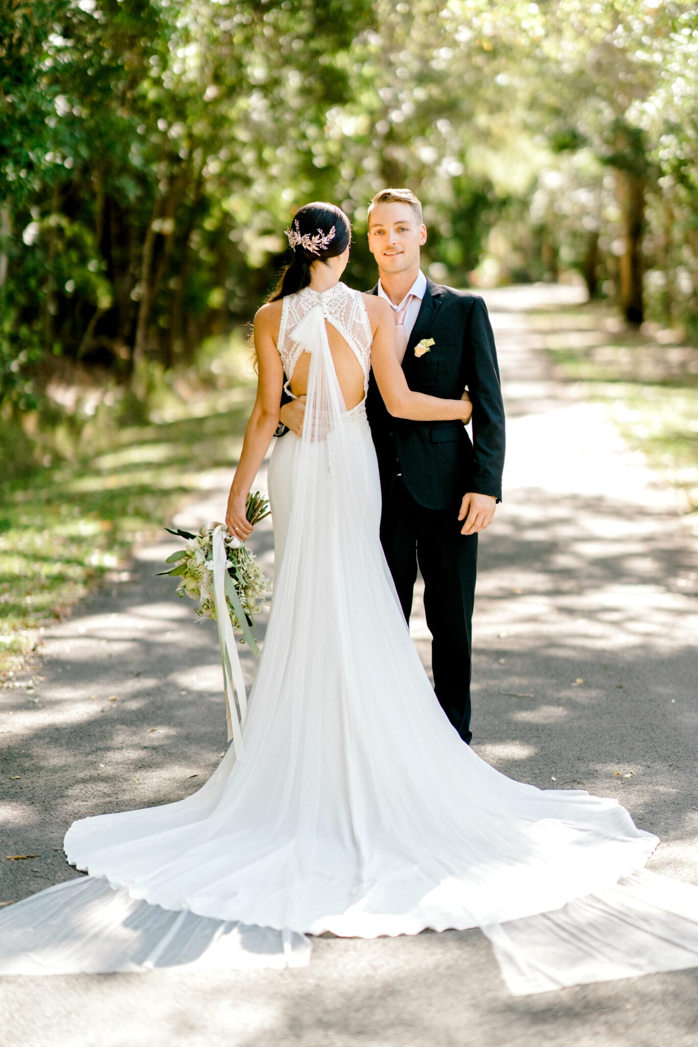 TAMESIS-Rosa-Clara-High-Neck-Low-Back-Wedding-Gown-White-Lily-Couture-Brisbane (6)