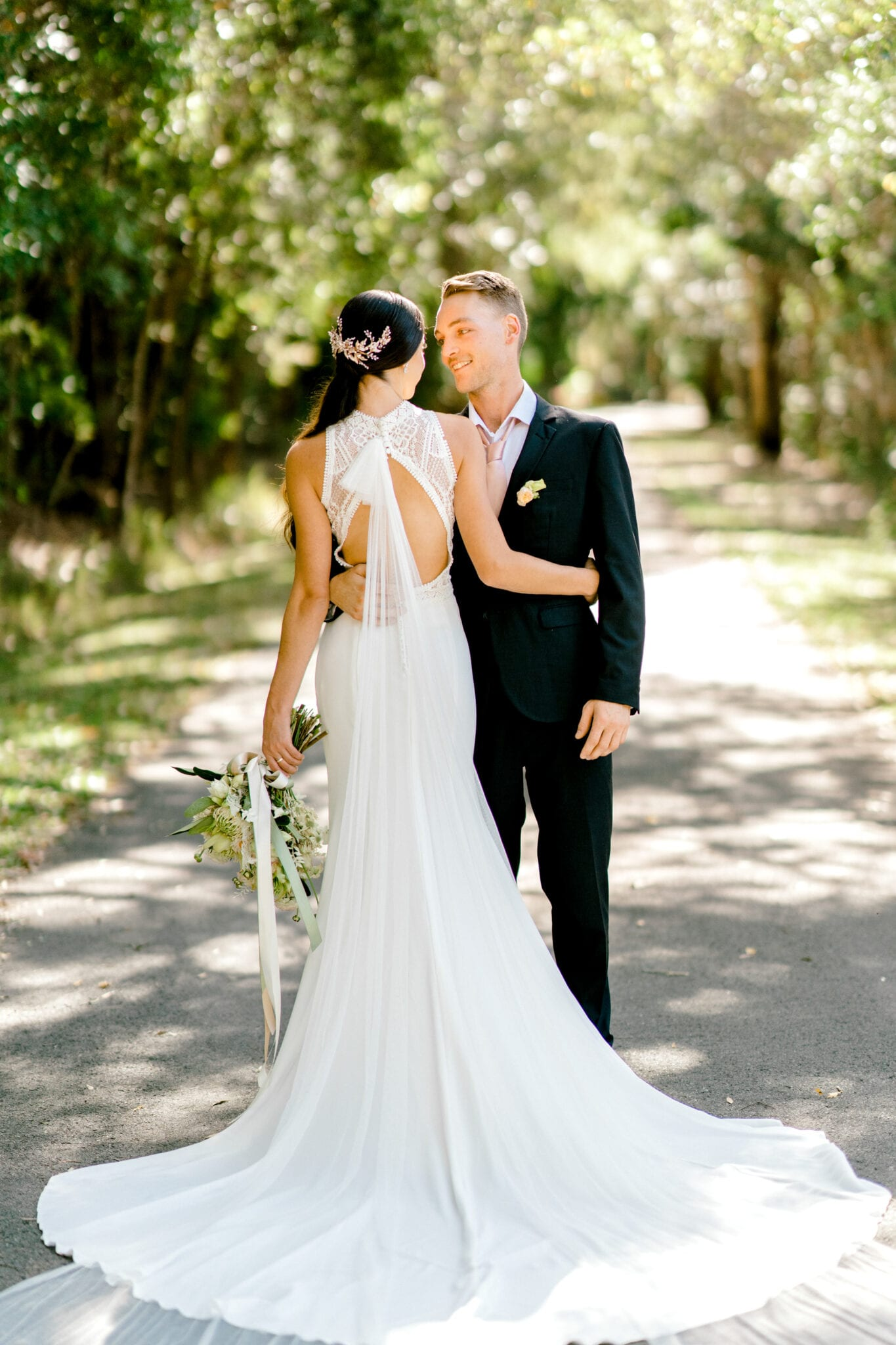 TAMESIS-Rosa-Clara-High-Neck-Low-Back-Wedding-Gown-White-Lily-Couture-Brisbane (9)