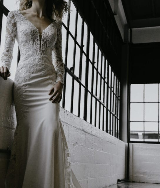 VIENNA-Martina-Liana-1302-Sophisticated-Luxurious-Crepe-Lace-Wedding-Gown-Brisbane