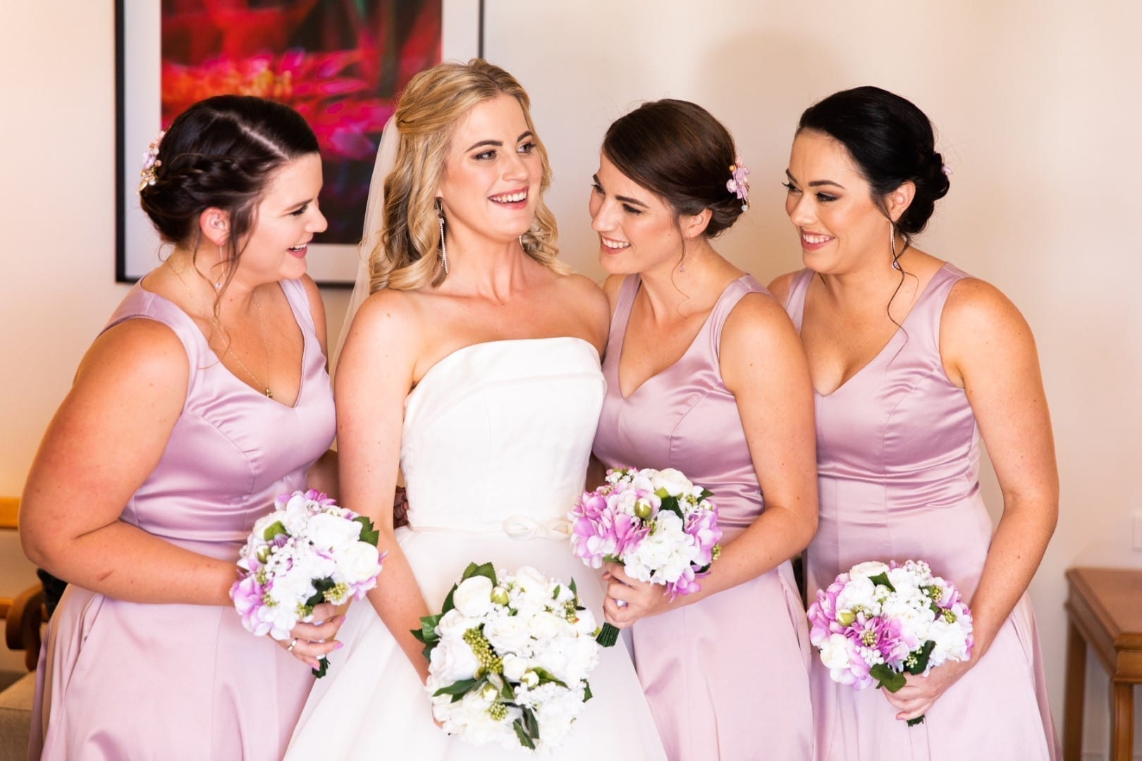 Bride Jess with her beautiful bridesmaids.