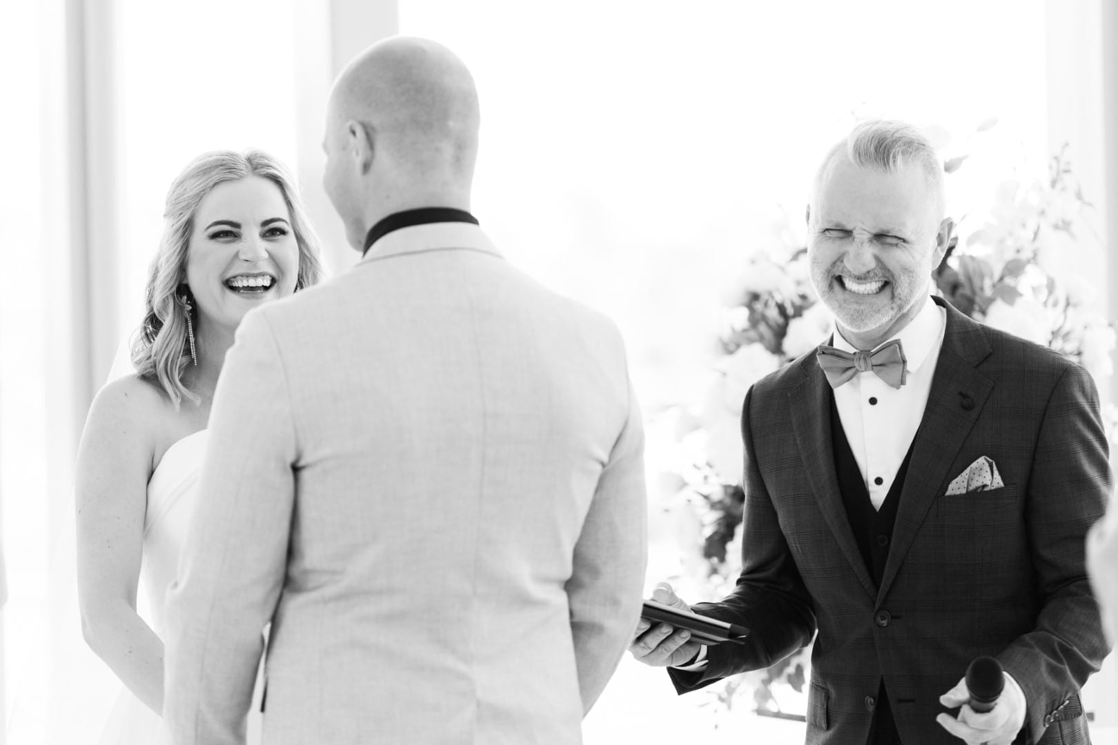 All smiles with celebrant Married By Jake