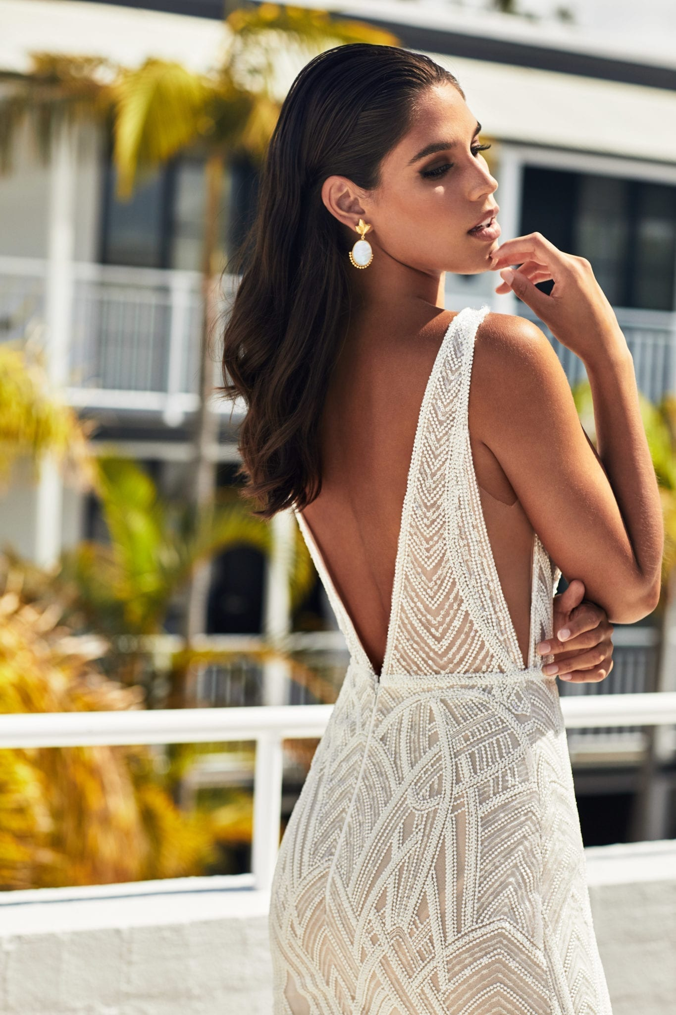 Low back wedding dresses Brisbane