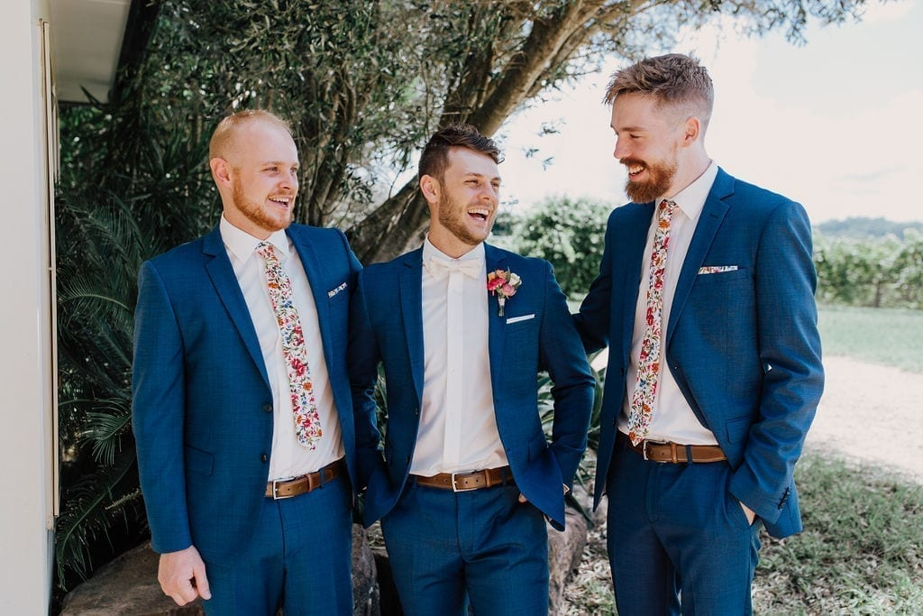 Groom Zach and his groomsmen