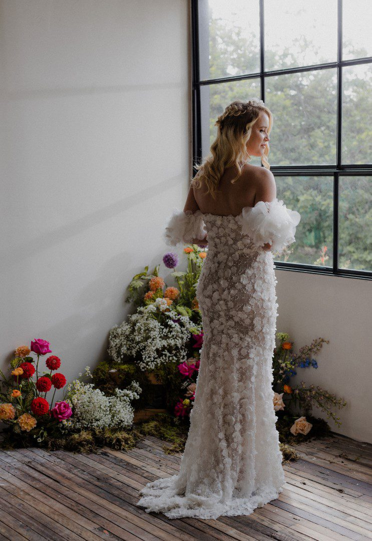 white lily couture wedding dress bright flowers brisbane (11)